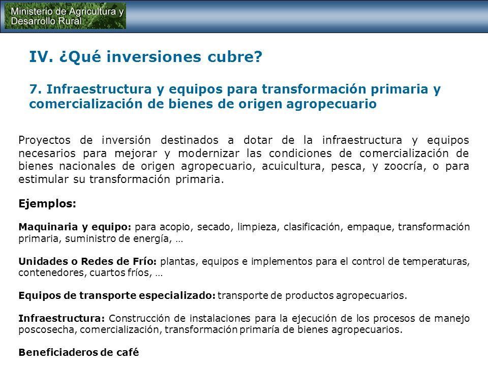 IV. ¿Qué inversiones cubre. 7