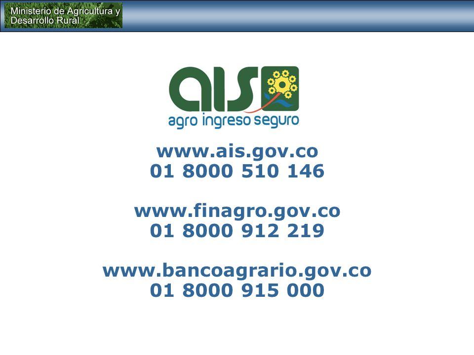 www.ais.gov.co 01 8000 510 146. www.finagro.gov.co.
