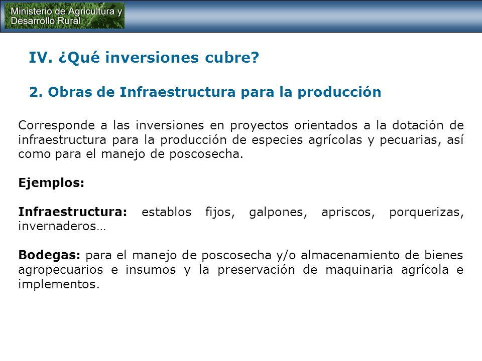 IV. ¿Qué inversiones cubre. 2