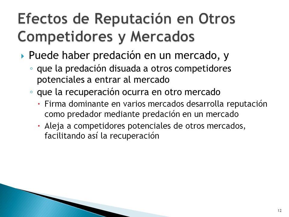 Efectos de Reputación en Otros Competidores y Mercados