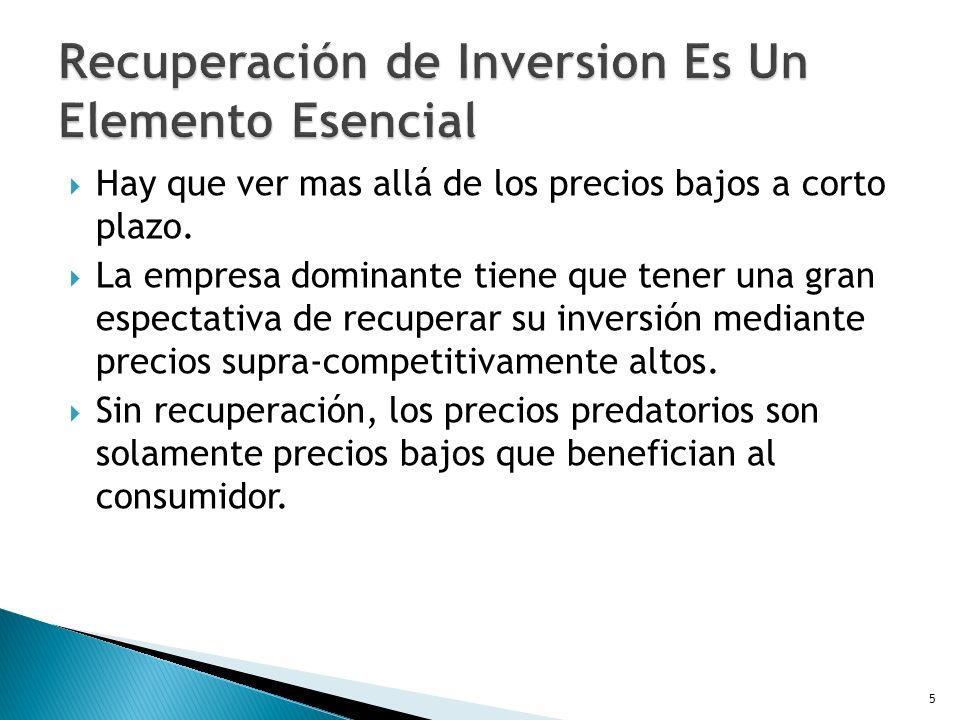 Recuperación de Inversion Es Un Elemento Esencial