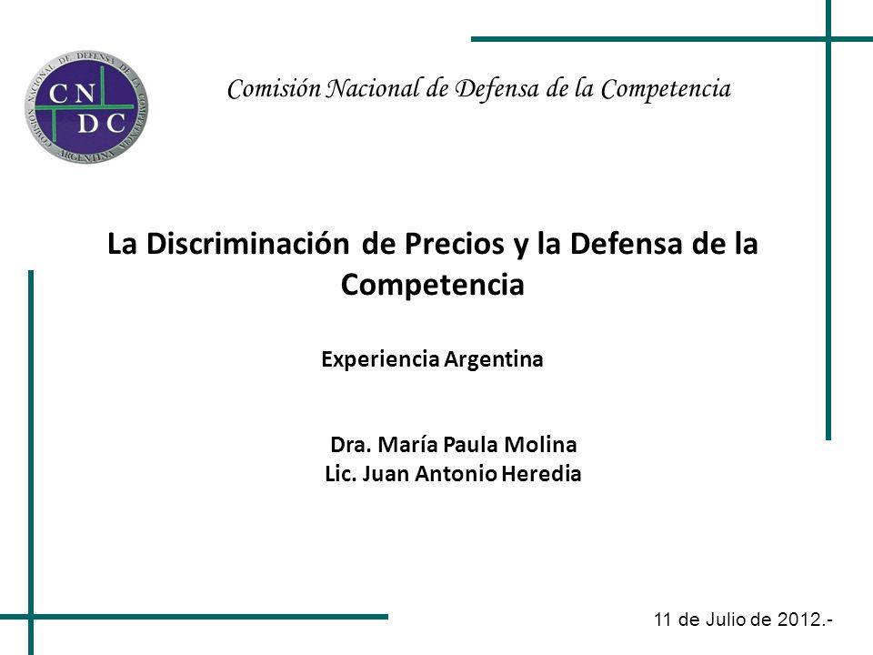 La Discriminación de Precios y la Defensa de la Competencia