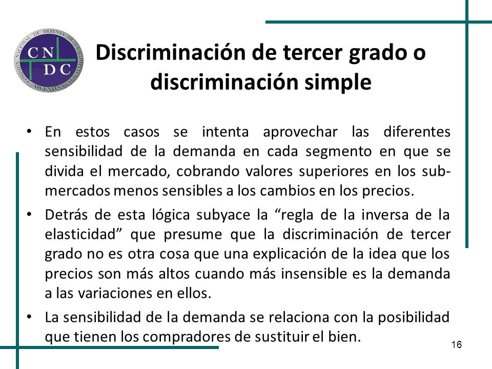 Discriminación de tercer grado o discriminación simple