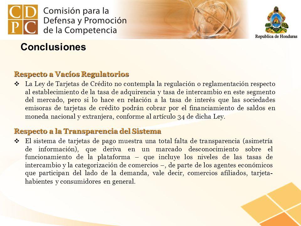 Conclusiones Respecto a Vacíos Regulatorios