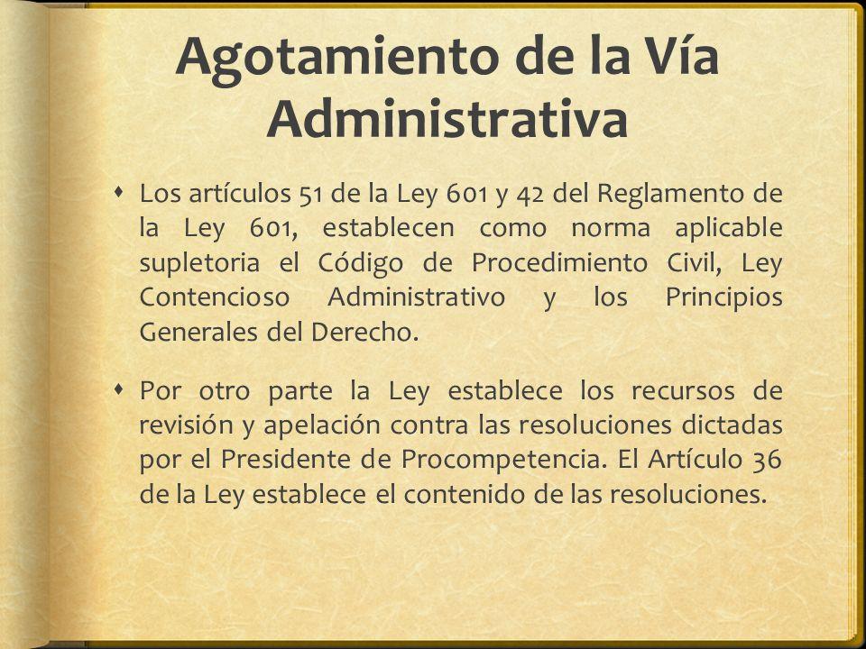 Agotamiento de la Vía Administrativa