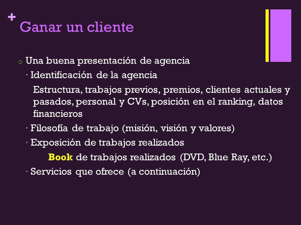 Ganar un cliente Una buena presentación de agencia