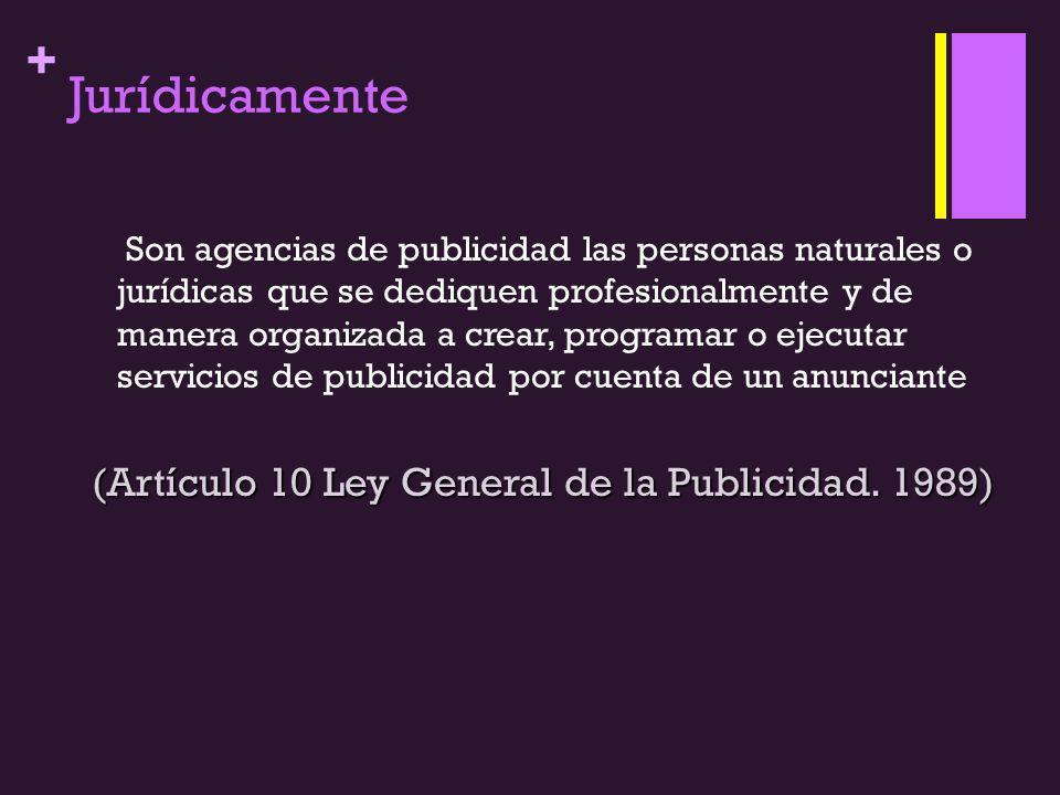 (Artículo 10 Ley General de la Publicidad. 1989)