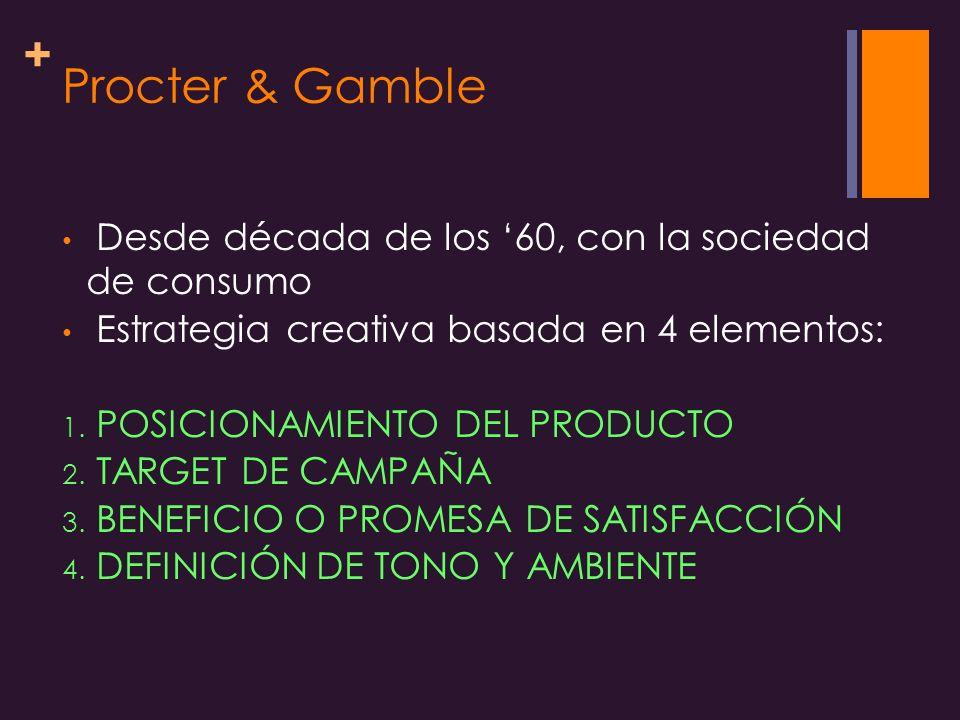 Procter & Gamble Desde década de los '60, con la sociedad de consumo