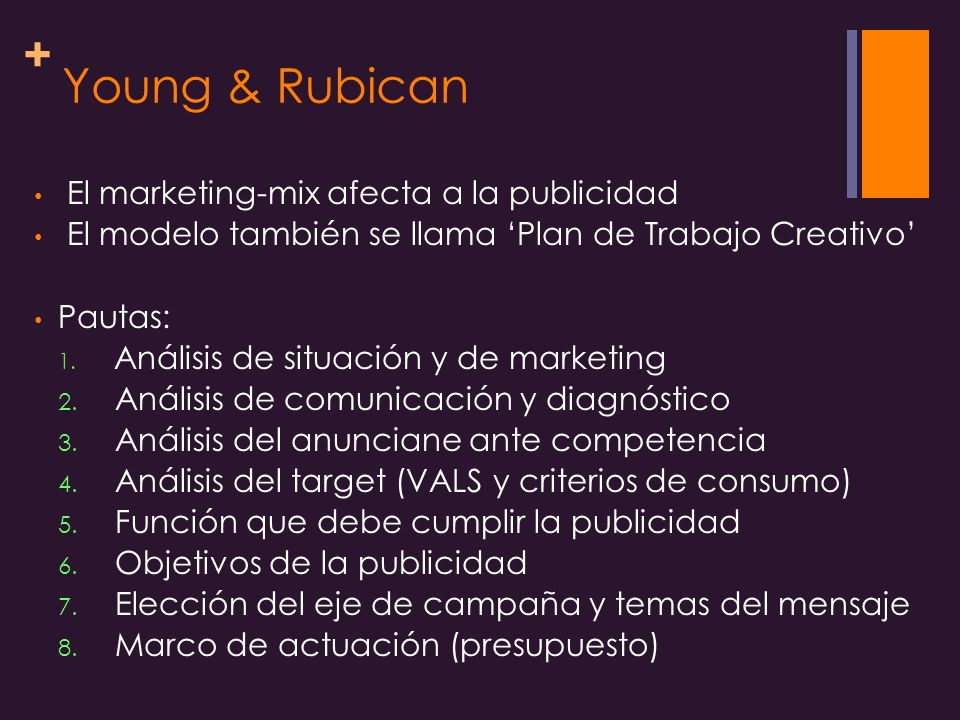 Young & Rubican El marketing-mix afecta a la publicidad
