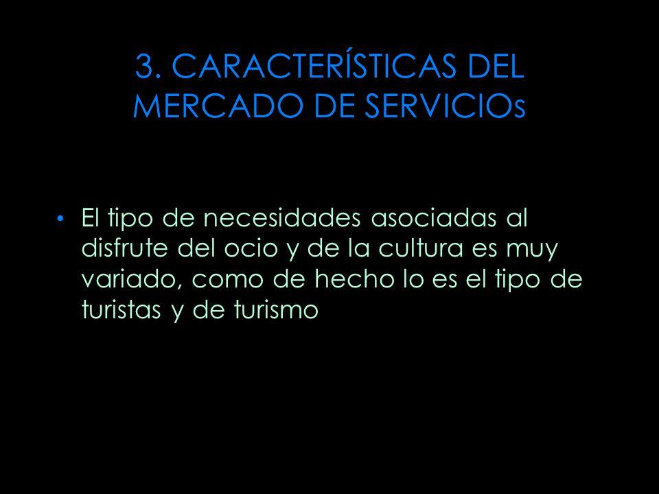 3. CARACTERÍSTICAS DEL MERCADO DE SERVICIOs