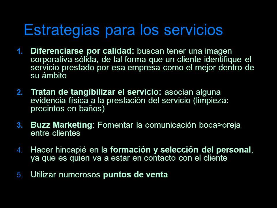 Estrategias para los servicios
