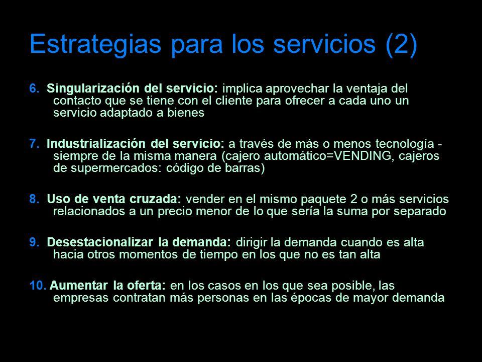 Estrategias para los servicios (2)