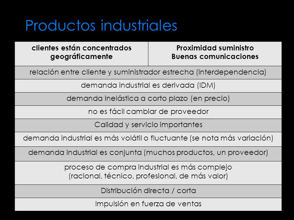 Productos industriales