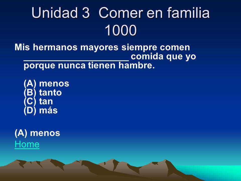 Unidad 3 Comer en familia 1000