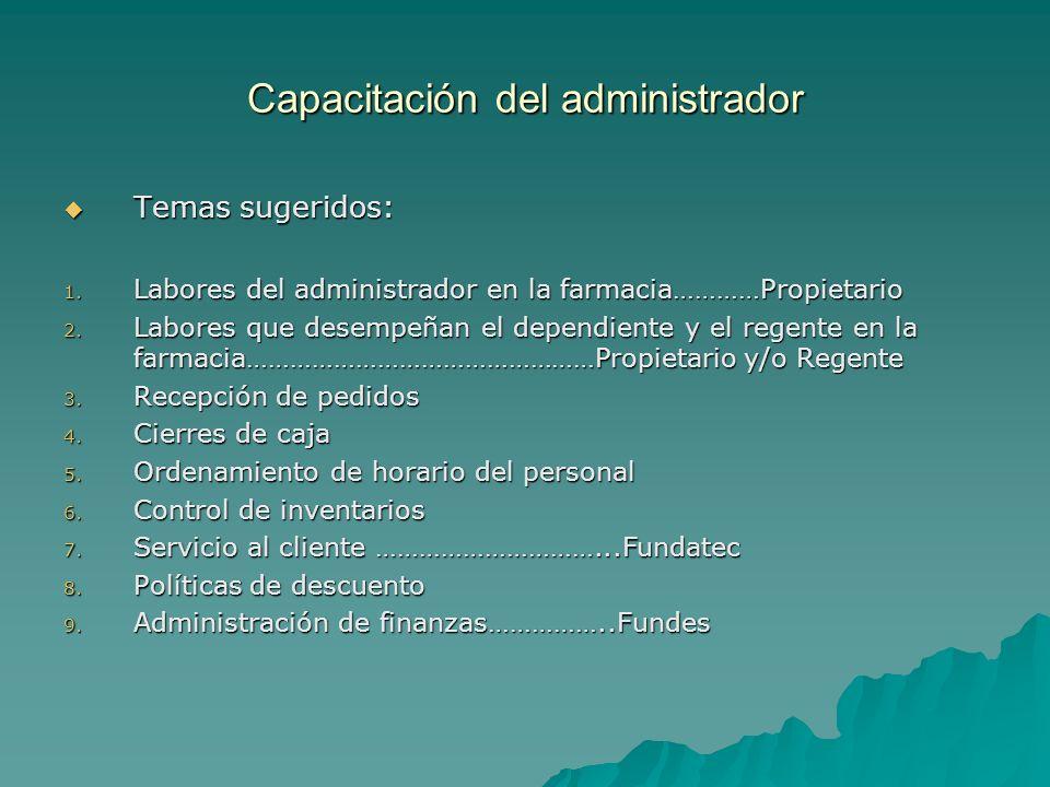 Capacitación del administrador