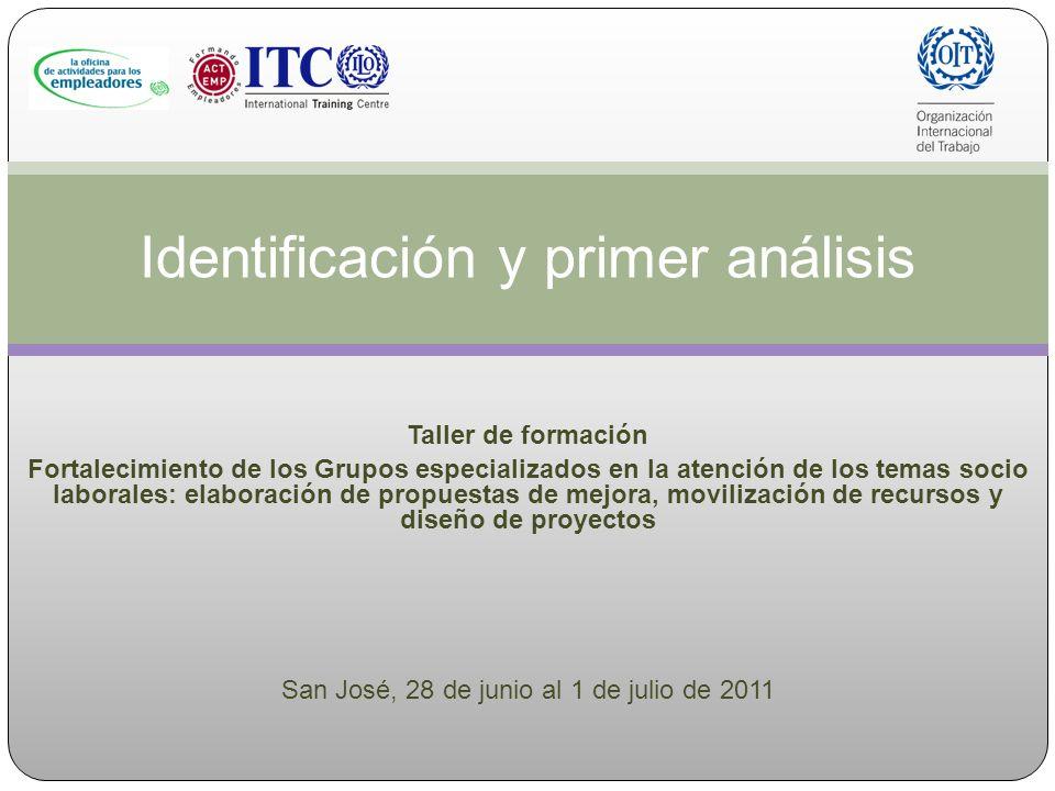 Identificación y primer análisis