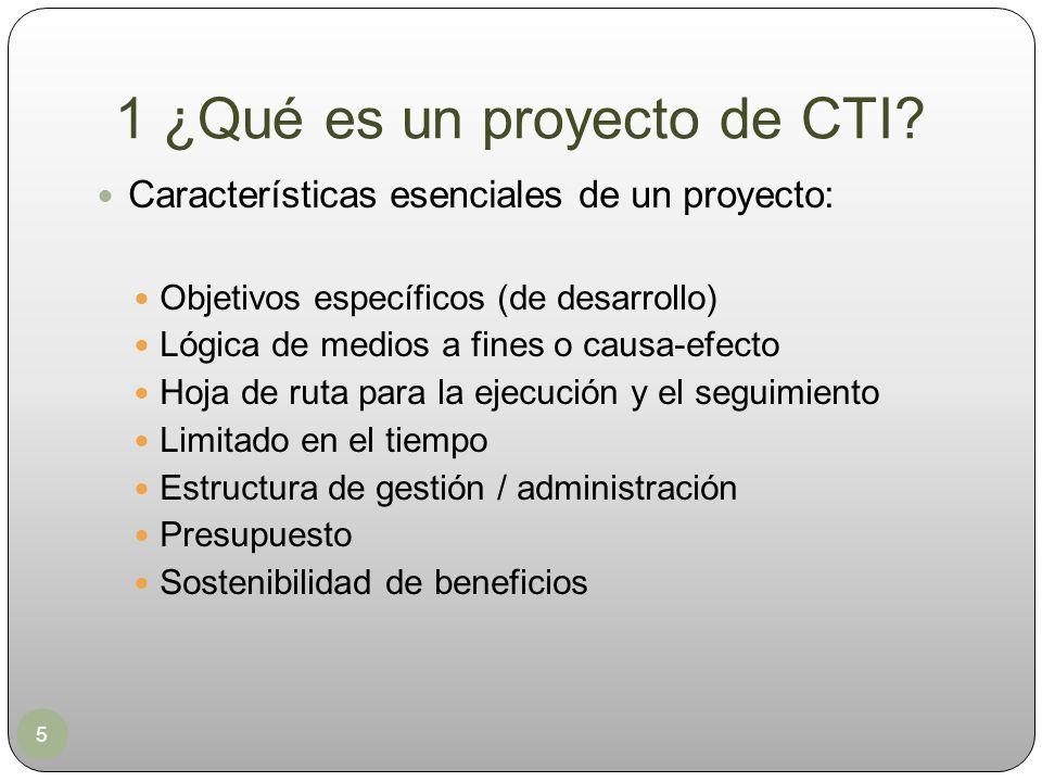 1 ¿Qué es un proyecto de CTI