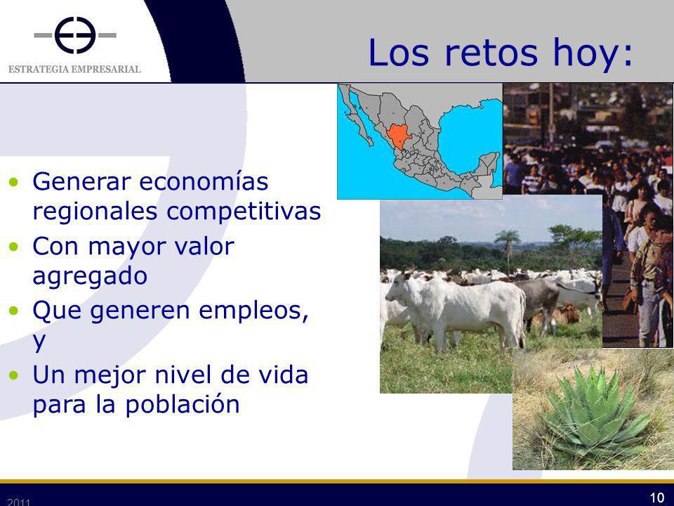 Los retos hoy: Generar economías regionales competitivas