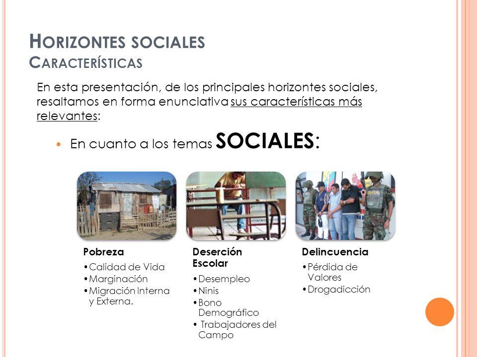 Horizontes sociales Características