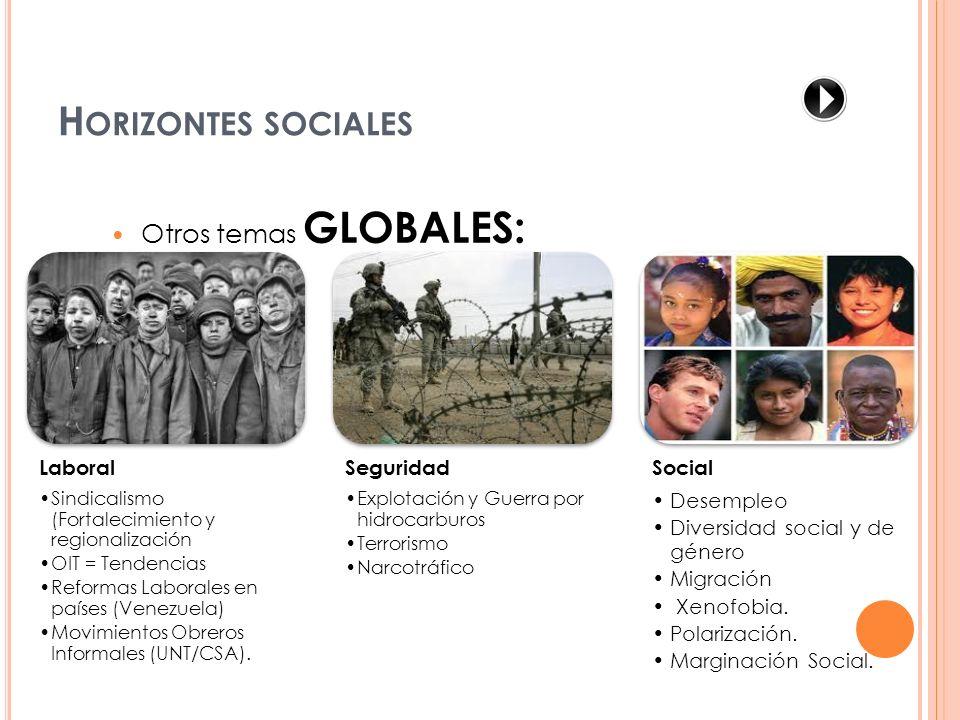 Horizontes sociales Otros temas GLOBALES: Laboral Seguridad Social