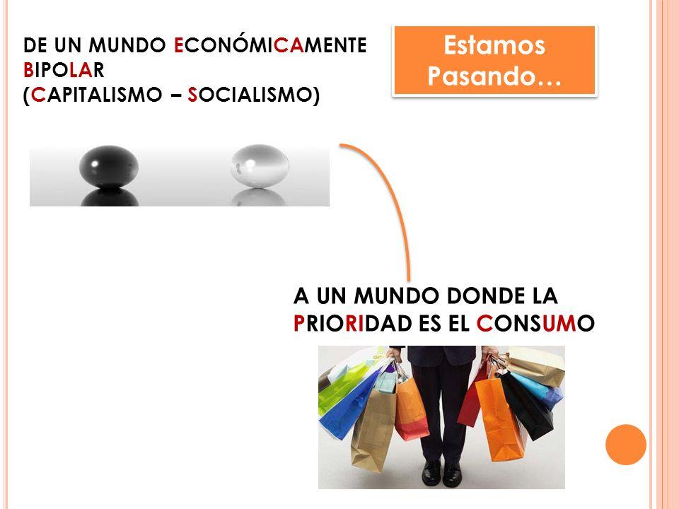 de un mundo económicamente bipolar (CAPITALISMO – SOCIALISMO)