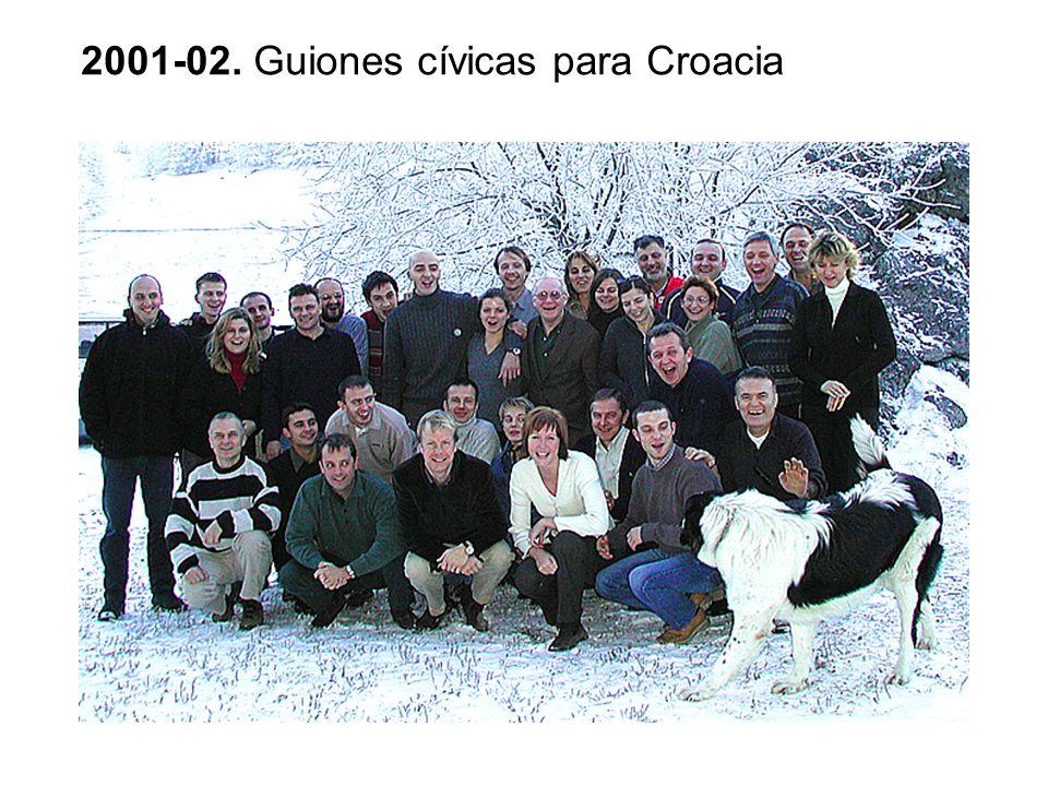 2001-02. Guiones cívicas para Croacia