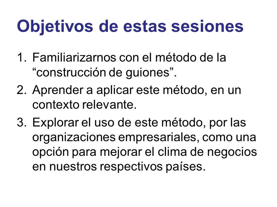 Objetivos de estas sesiones