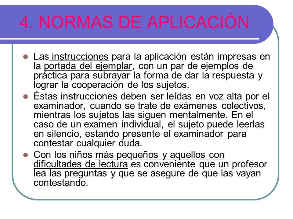 4. NORMAS DE APLICACIÓN