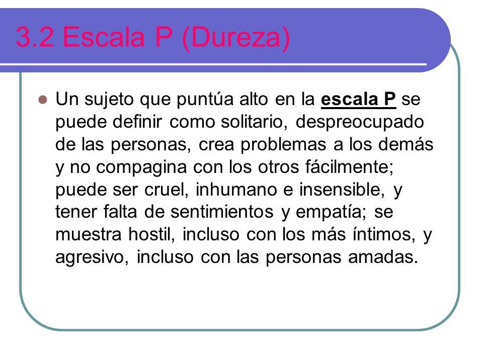 3.2 Escala P (Dureza)