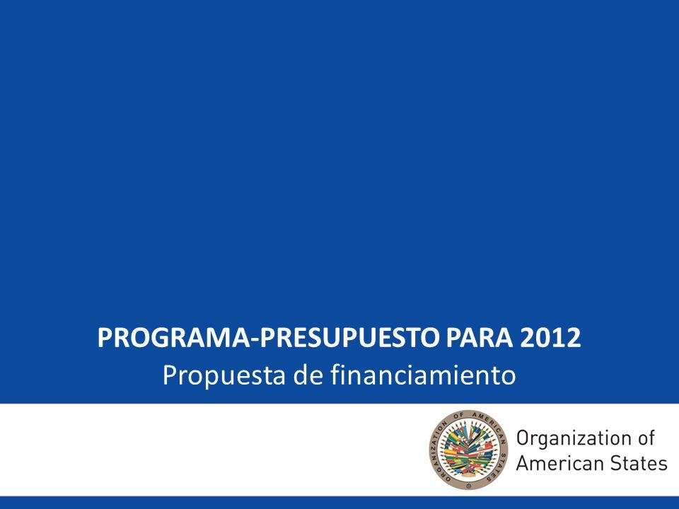 PROGRAMA-PRESUPUESTO PARA 2012