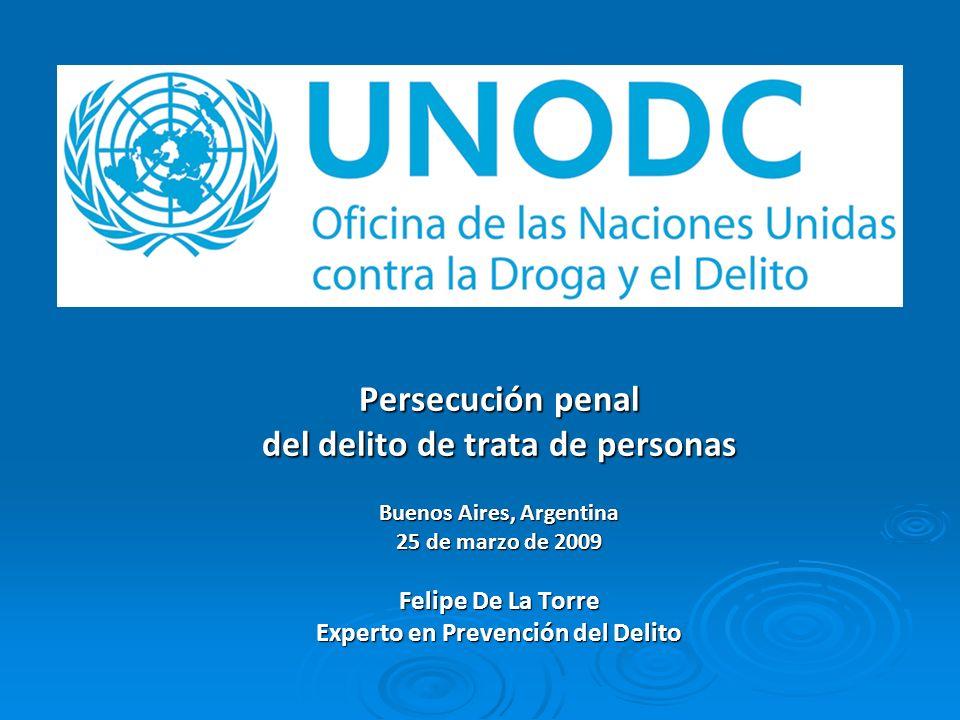 Persecución penal del delito de trata de personas