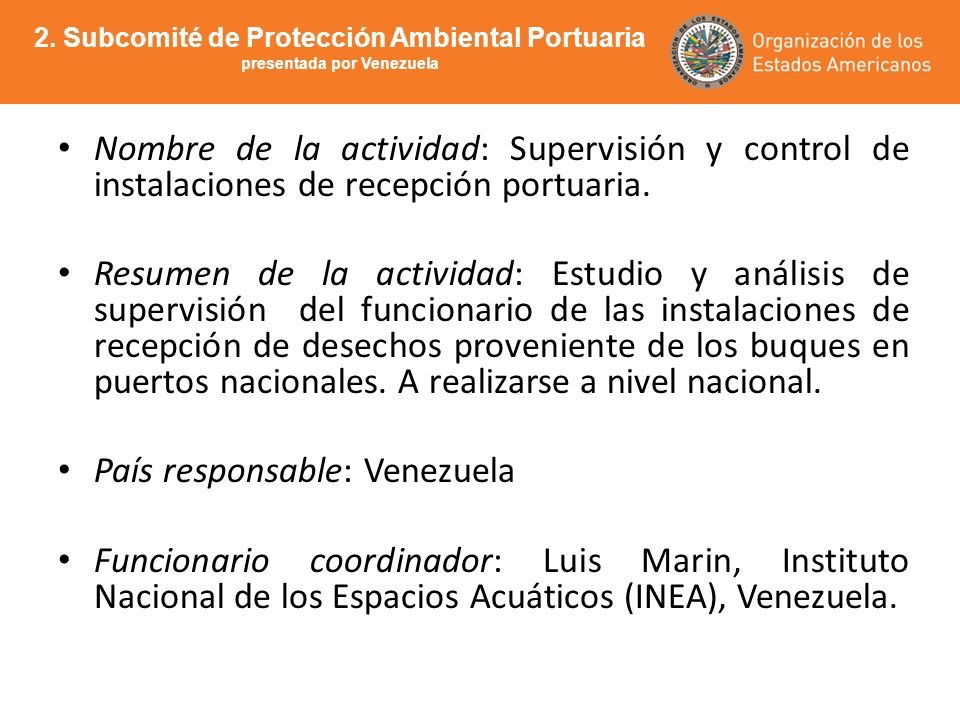 País responsable: Venezuela