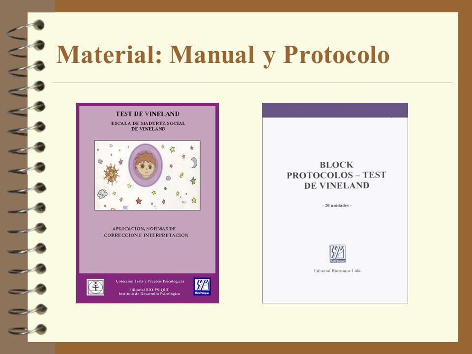 Material: Manual y Protocolo