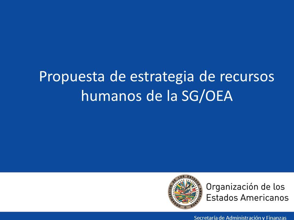Propuesta de estrategia de recursos humanos de la SG/OEA