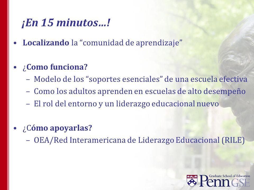 ¡En 15 minutos…! Localizando la comunidad de aprendizaje