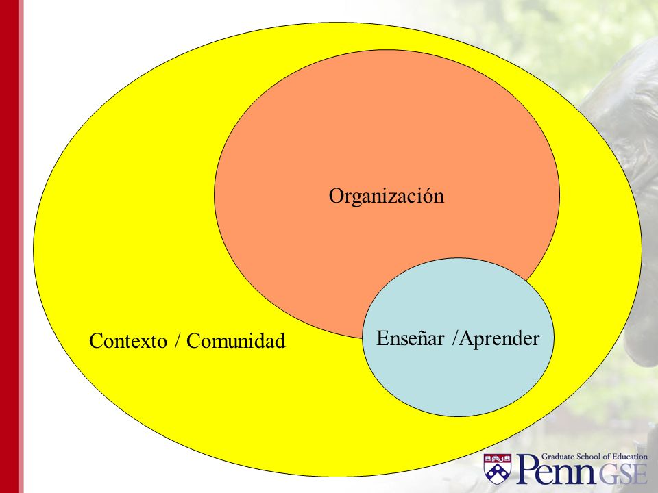 Organización Enseñar /Aprender Contexto / Comunidad