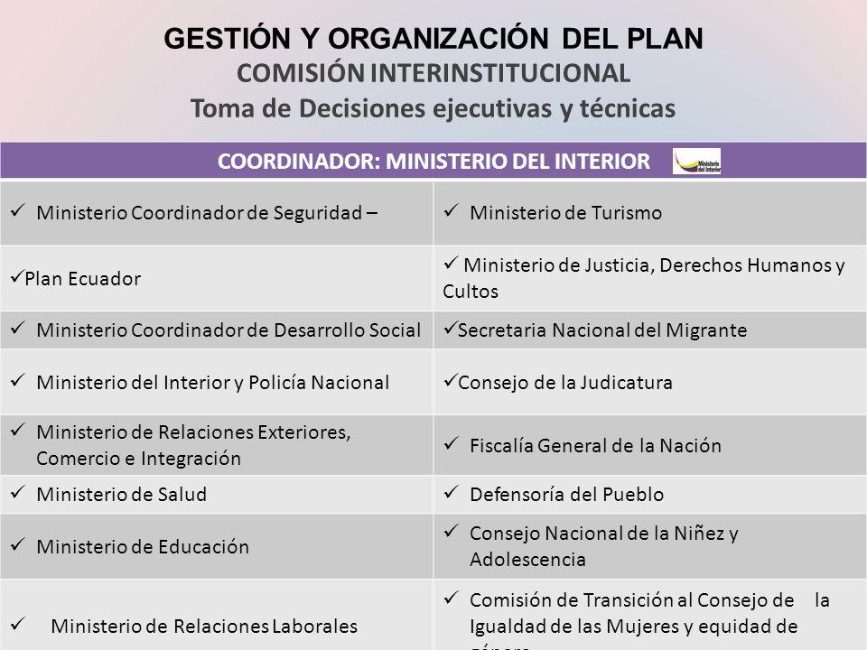 Plan nacional para la prevenci n y sanci n de la trata de for Ministerio del interior y de justicia
