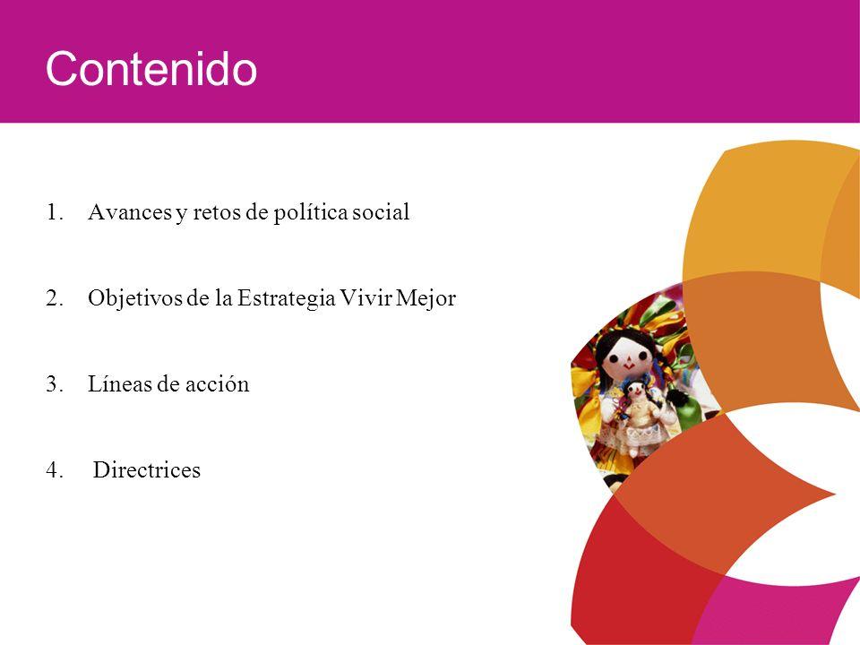 Contenido 1. Avances y retos de política social