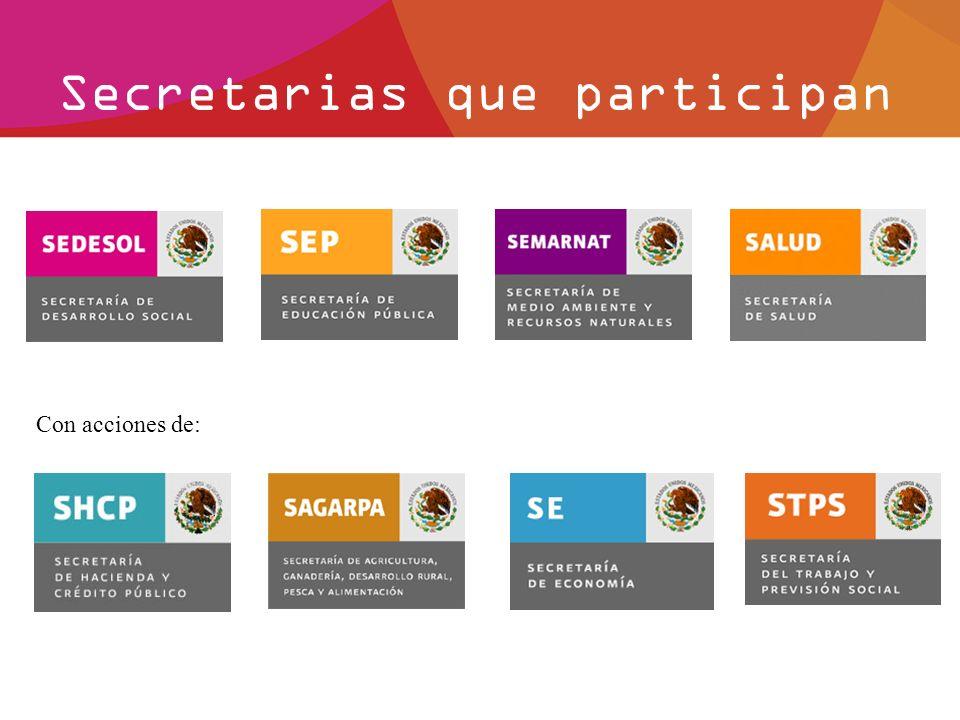 Secretarias que participan