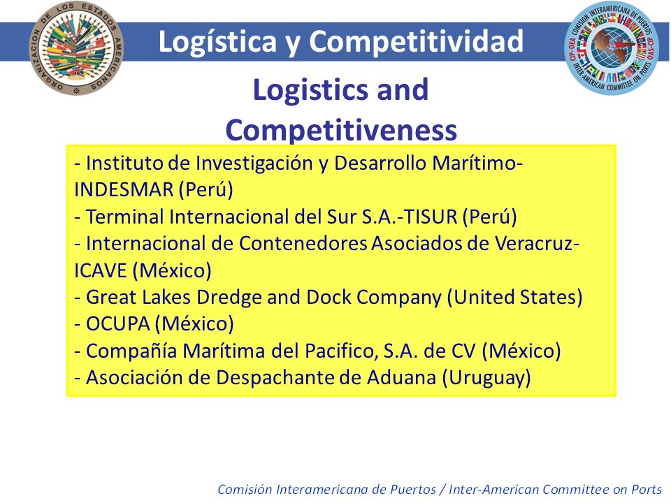 Logística y Competitividad Logistics and Competitiveness