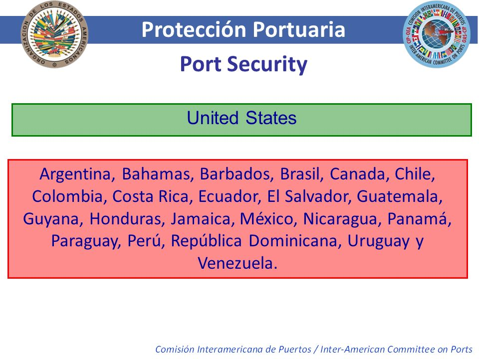 Protección Portuaria Port Security