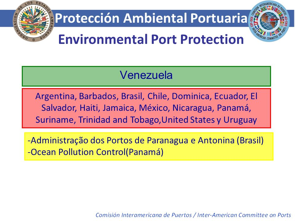Protección Ambiental Portuaria Environmental Port Protection