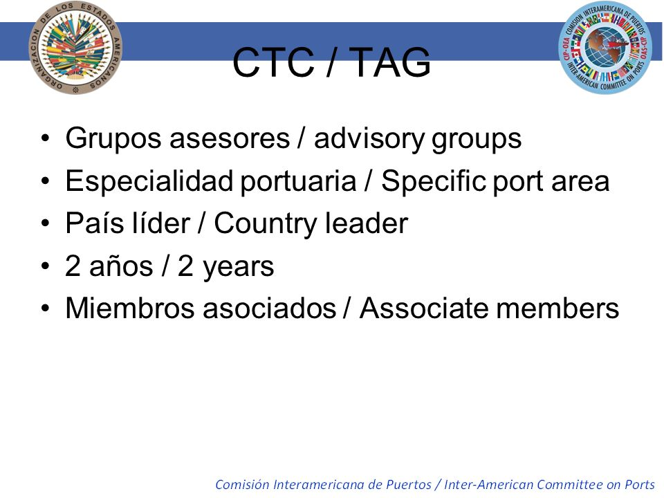 CTC / TAG Grupos asesores / advisory groups