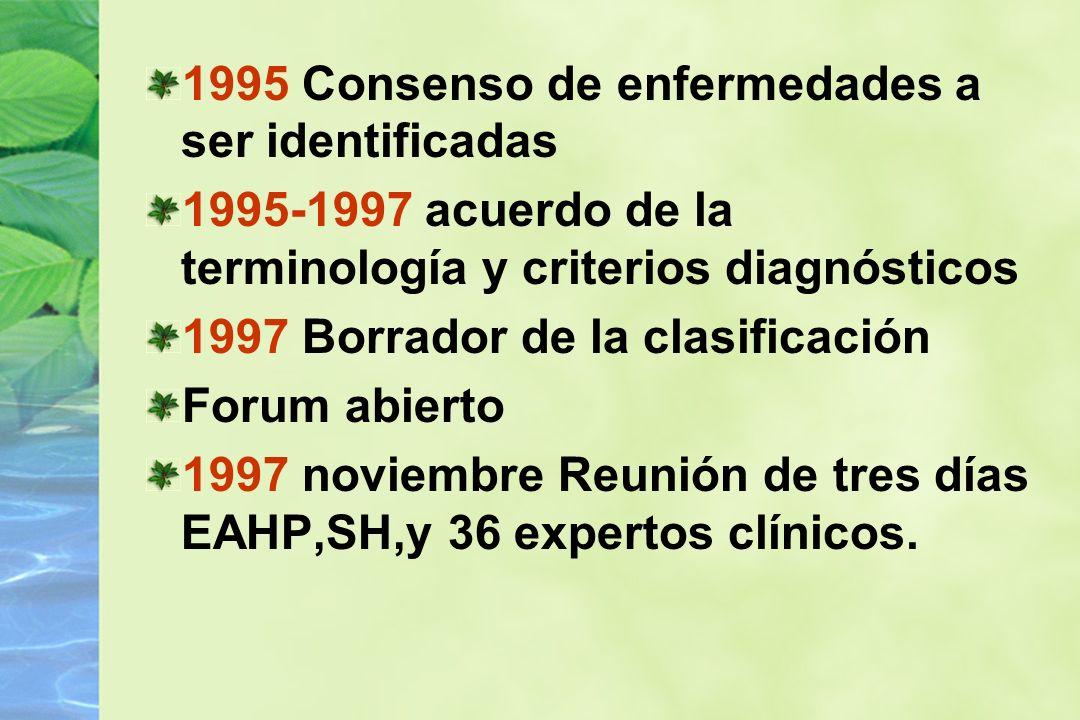 1995 Consenso de enfermedades a ser identificadas