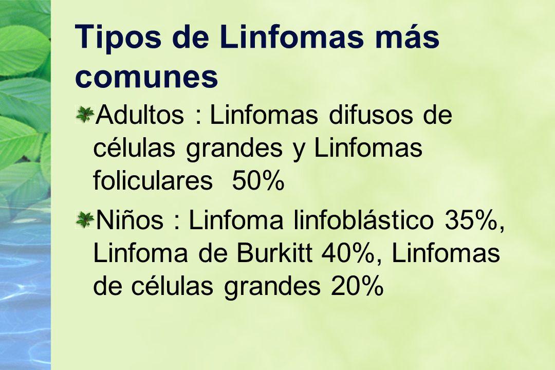Tipos de Linfomas más comunes