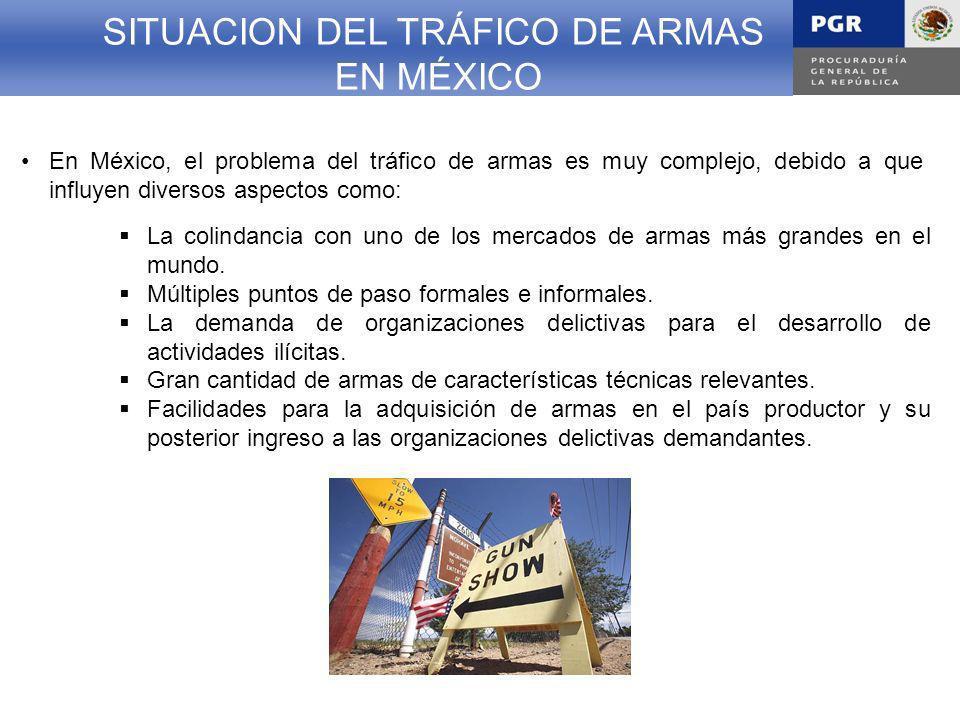 SITUACION DEL TRÁFICO DE ARMAS EN MÉXICO