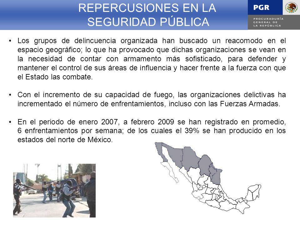 REPERCUSIONES EN LA SEGURIDAD PÚBLICA REPERCUSIONES EN LA