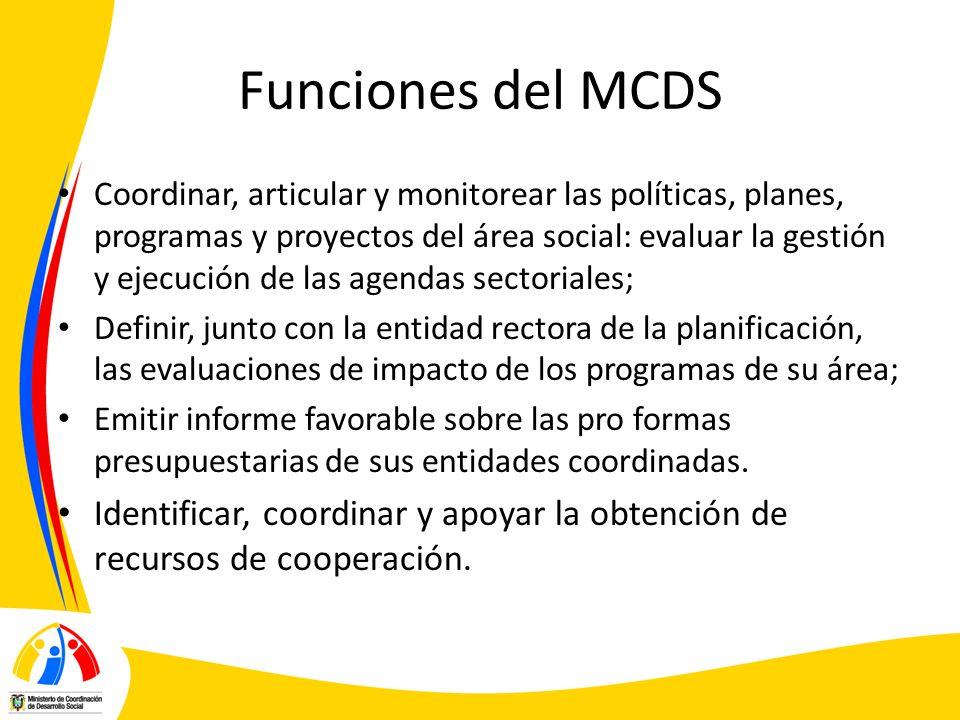Funciones del MCDS