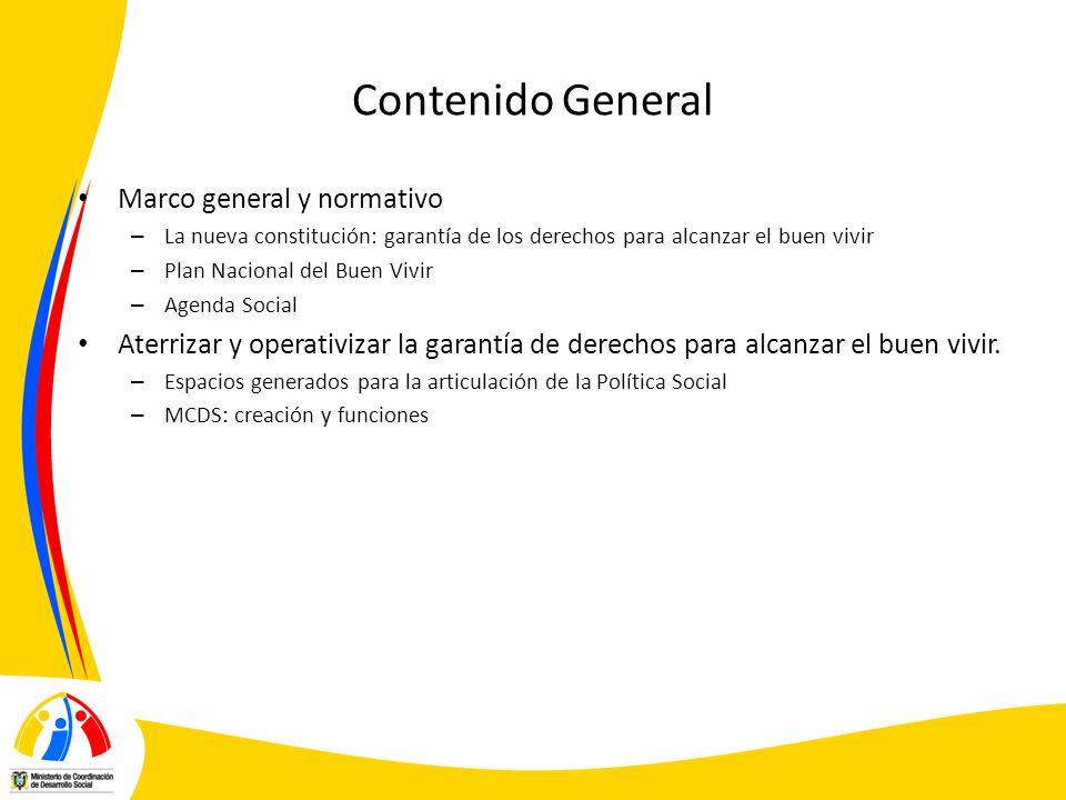 Contenido General Marco general y normativo