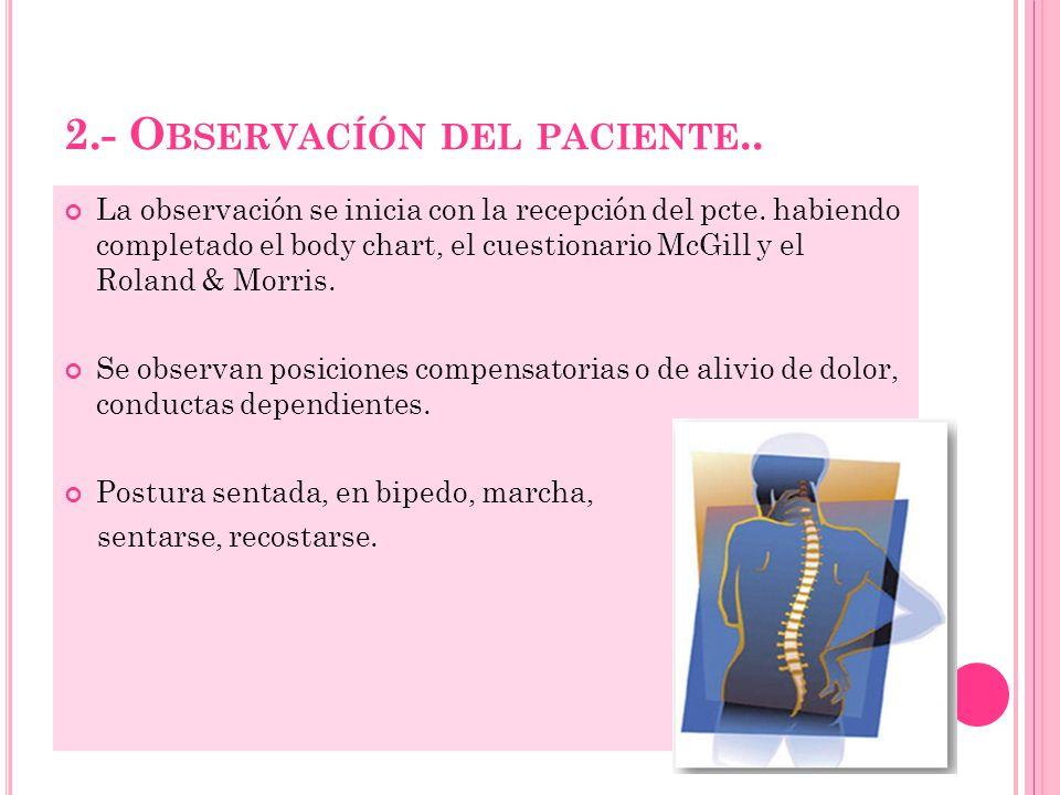 2.- Observacíón del paciente..